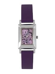 Q&Q Women Purple Dial Watch