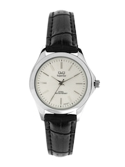 Q&Q Women Silver Toned Dial Watch