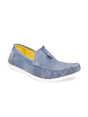 Quarks Men Blue Loafers