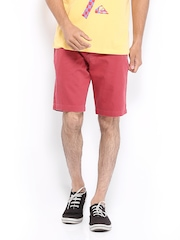 Quiksilver Men Coral Red Shorts