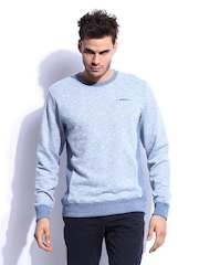 RDSTR Men Light Llue & White Falcieri Contrast Side Panel Grindle Sweatshirt