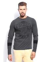 RDSTR Men Classic Dark Grey Melange T-shirt