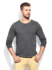 RDSTR Men Grey Cold Dyed Vintage Slub T-shirt