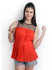 RIDRESS Women Orange & Black Top