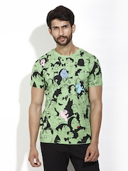 Rajesh Pratap Singh Men Green Printed Mario Faces T-shirt