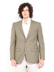 Raymond Men Brown Modern Fit Woollen Blend Blazer