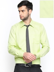 Raymond Men Lime Green Contemporary Fit Formal Shirt