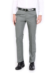 Raymond Men Grey Contemporary Fit Formal Trousers