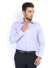 Raymond Men Lavender & White Contemporary Fit Formal Shirt
