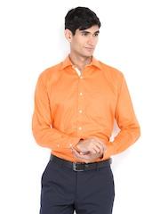 Raymond Men Orange Slim Fit Formal Shirt