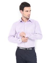 Raymond Men Purple & White Classic Fit Formal Shirt
