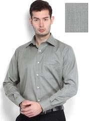 Raymond Men Grey Contemporary Fit Woollen Formal Shirt