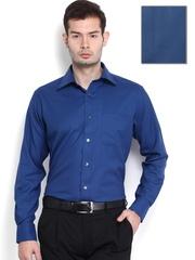 Raymond Men Blue Woollen Contemporary Fit Formal Shirt