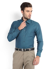 Raymond Men Teal Green Slim Fit Formal Shirt