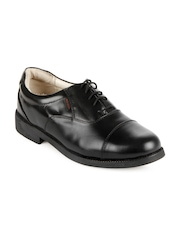 Red Chief Men Black Leather Shoes