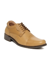 Red Chief Men Tan Brown Leather Semi-Formal Shoes