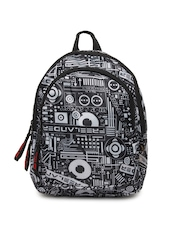Red Chili Unisex Black & Grey Printed Backpack