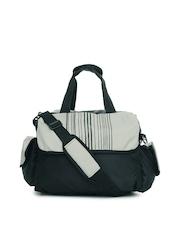 Red Chilli Unisex Black & Grey Barcode Duffle Bag