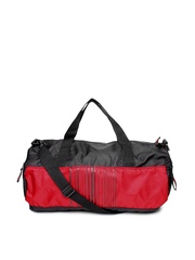 Red Chilli Unisex Black & Red Barcode Gym Duffle Bag