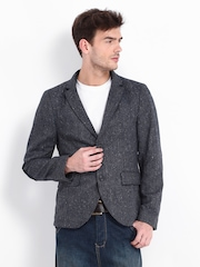 Red Herring by Debenhams Men Charcoal Grey Tweed Blazer