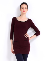 Red Herring by Debenhams Women Burgundy Tunic