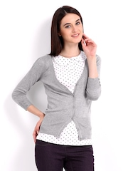 Red Herring by Debenhams Women Grey Cardigan