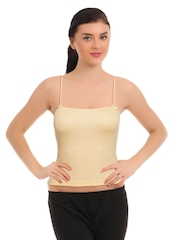 Red Rose Women Skin Coloured Camisole