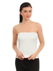 Red Rose White Tube Camisole