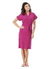 Red Rose Women 18 Dark Magenta Bath Robe