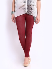 Red Rose Women Maroon Jeggings
