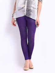 Red Rose Women Purple Jeggings