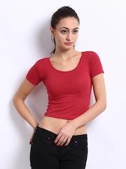 Red Rose Women Red Slew Innerwear T-shirt