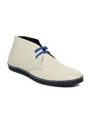 Red Tape Men Beige Leather Casual Shoes