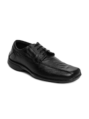 Red Tape Men Black Leather Casual Shoes