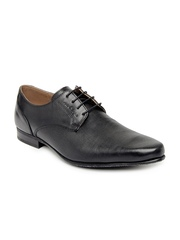 Red Tape Men Black Leather Semi-Formal Shoes