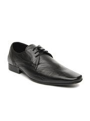 Red Tape Men Black Leather Semiformal Shoes