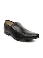 Red Tape Men Black Leather Semiformal Shoes