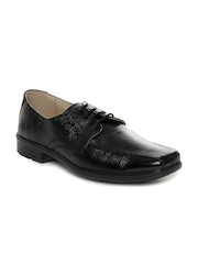 Red Tape Men Black Leather Smart Casual Shoes