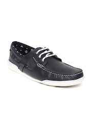 Red Tape Men Navy Leather Casual Shoes