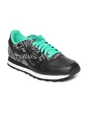 Reebok Classic Men Black CL Leather Reflect Running Shoes
