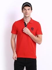 Reebok Men Red Polo T-shirt