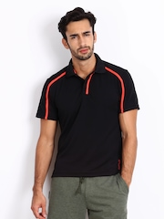 Reebok Men Black Polo T-shirt