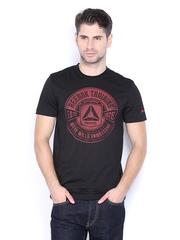 Reebok Men Black Printed T-shirt