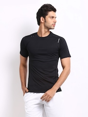 Reebok Men Black T-shirt