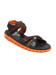 Reebok Men Black & Orange Realflex Adventure II LP Sports Sandals