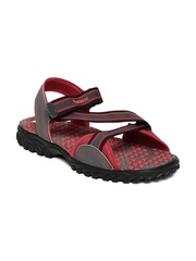 Reebok Men Grey & Red Active Gear LP Sports Sandals