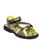 Reebok Men Grey & Yellow Active Gear LP Sports Sandals