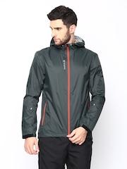 Reebok Men Dark Green DT Rain Shell Hooded Jacket