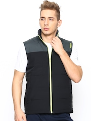 Reebok Men Black MS Bomber Sleeveless Jacket