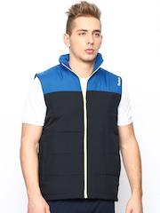 Reebok Men Blue MS Bomber Sleeveless Jacket